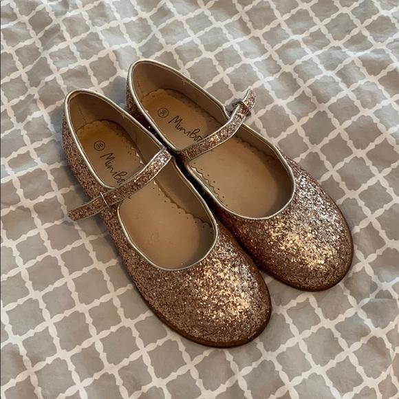 Mini Boden Girls Size 36 Gold Glitter